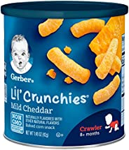 Gerber Graduates Lil' Crunchies, Mild Cheddar, 1.48-Ounce Canisters (Pack o