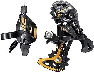 Bibike 12 速碳纤维后排杆和铝制换档杆,适用于山地自行车与 Shimano Sram 兼容
