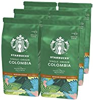 STARBUCKS 星巴克 Single-Origin Colombia 中等烘焙咖啡粉,中度烘培,200g(6 x 200g)