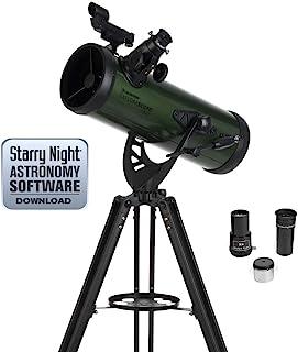 Celestron 探险宝探索月亮或环 Saturn 探险镜 60AZ 折射器,绿色 (22100)22103 114AZ 反射镜 绿色