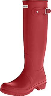 Hunter Women's Original Tall Wellington Boot Mid-Calf Boots Red (Military Red) 6 UK