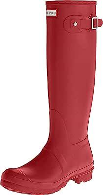 Hunter 女式 Original Tall Wellington 中筒靴 Red Military Red 4 UK