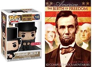You Love Honest Abe? 证明它! 亚伯拉罕·林肯总统 - Funko 流行美国历史标志 # 10 *和美国:自由出生 10 个纪录机超过 7 小时美国历史包