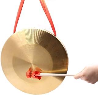 MUPOO 6 英寸(约 15.2 厘米)铜色松功,中铜凤功,带圆形游戏锤鼓槌
