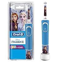 Oral-B 歐樂B 兒童電動牙刷 冰雪奇緣主題,帶迪士尼貼紙,適用于3歲以上兒童,藍色