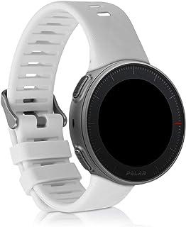 kwmobile 硅胶手表表带 适用于 Polar Vantage V - 健身追踪器替换表带 - 运动腕带手镯 带扣47319.02_m000882 白色