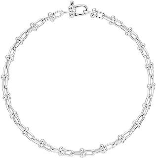 [蒂芙尼] TIFFANY 纹银 Tiffany HardWear 微 戒指 手链 中号 17cm 60417067
