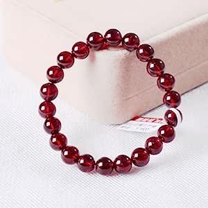 晶隆福 天然玫红石榴石手链 美容养颜 颜色亮丽 晶体通透 女性必备 增添魅力