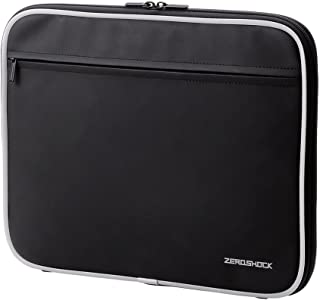 Elecom 用 Zeroshock 内胆包平板电脑带收纳口袋 ZSB - IBN 系列  黑 13.3インチ