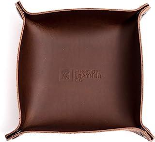 皮革代客托盘 17.78 厘米 x 17.78 厘米 - 威士忌