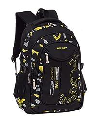 MITOWERMI 迷彩印花小学生中背包儿童书包休闲旅行户外帆布背包男女适用