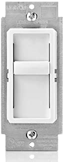 Leviton SureSlide 通用 150W LED/CFL 白炽滑至关闭调光器 白色 1包 C22-06672-1LW 需配变压器