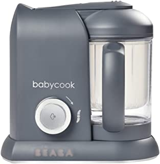 Béaba - Babycook Solo - 婴儿食品机 - 4 合 1:婴儿食品加工器、搅拌机和炊具 - 柔软蒸锅烹饪 - 快速 - 宝宝食物多样化 - 法国制造 - 深灰色