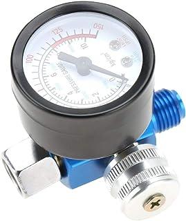 Bracon 气压调节器 - 1/4 英寸(约 0.6 厘米)喷漆枪气压调节器压力计气动工具配件