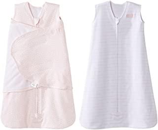 HALO 赫拉 婴儿睡袋 纯棉 铂金礼盒 两件套 粉红圆点 S(0-6个月) NB(0-3个月)+粉红木纹 春夏薄款
