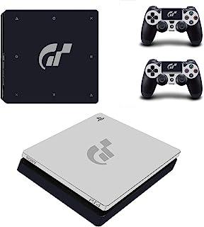 冒险游戏 - PS4 SLIM - Gran Turismo,特别版 - Playstation 4 乙烯基控制台皮肤贴花贴纸 + 2 个控制器皮肤套装
