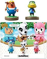 动物穿越系列 3 件装 Amiibo (动物穿越系列) - Mr. Resetti - Kapp'n Amiibo 任天堂 Switch 套装 - 3DS - Wii U(散