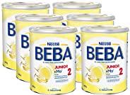 Nestlé 雀巢 BEBA JUNIOR 2 幼儿奶粉 适用于2岁以上幼儿,6罐装(6 x 800g)