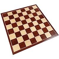 Erebus 國際象棋棋盤帶鑲嵌紅木 - 僅棋盤 - 33.02 cm