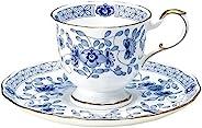 NARUMI 鸣海 茶杯碟套组 Milano系列 蓝色 200cc(约200ml) 咖啡 日本制 9682-6561