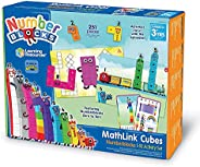 Learning Resources LSP0949 UK Numberblocks MathLink 骰子 1 10 个活动套装 学前知识 建筑 学习游戏 适合教室和在家使用 3 岁以上儿童