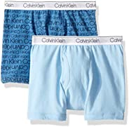 CALVIN KLEIN 男童 现代纯棉平角内裤 多条装