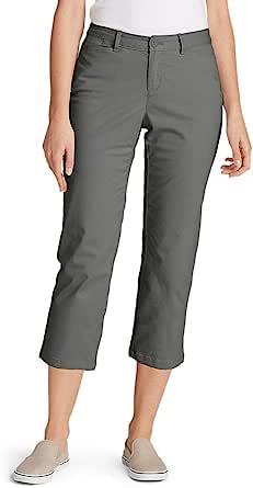 Eddie Bauer 女士弹力传奇水洗七分裤 - 曲线修身