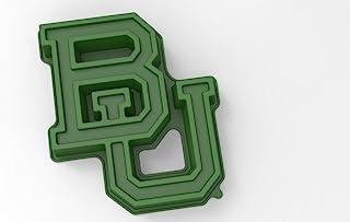 NCAA Baylor Bears 带支架蛋糕盘,均码,绿色