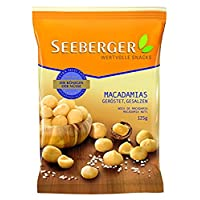 Seeberger 盐渍烤夏威夷果仁,13袋(13 x 125 g)
