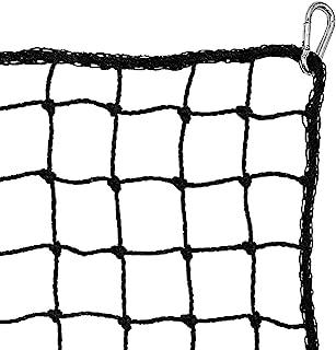 重型运动网屏障网。所有运动球控制网长曲棍球足球垒球篮球足球曲棍球。击中投掷和击球练习。包括 4 个登山扣