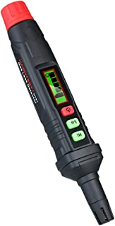 气体泄漏探测器闹钟,便携式天然气探测器,带 LCD 彩色显示声音/灯光警告,高低灵敏度可调节可燃丙烷甲烷气体传感器,2021 *版