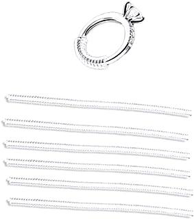 ARTLILY 6 件戒指尺寸调节环防护圈透明戒指尺寸减小器适用于松环