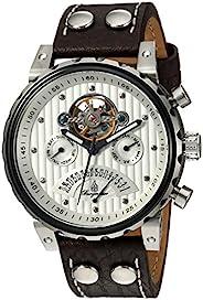 Burgmeister 男士手表帶模擬顯示、自動手表和皮革表帶 - 經典男士手表 經典男士手表