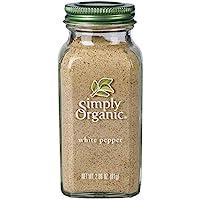 Simply Organic 白胡椒,*认证 | 3.1 盎司(约 81.1 克)| Piper nigrum L