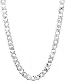 男式 4.5mm 实心纯银.925 锁链项链,意大利制造