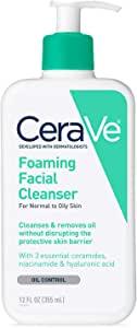 CeraVe赛瑞微保湿泡沫洁面乳 12 盎司(340克)
