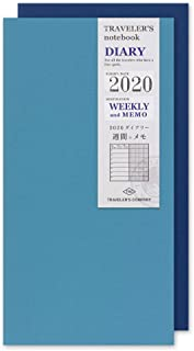 Traveler's Note 手账记事本 替换装 2020年 窄A5尺寸 周更(Weekly) A5変形