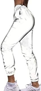 女士反光裤休闲舞蹈运动运动裤运动裤慢跑裤派对音乐节狂欢套装