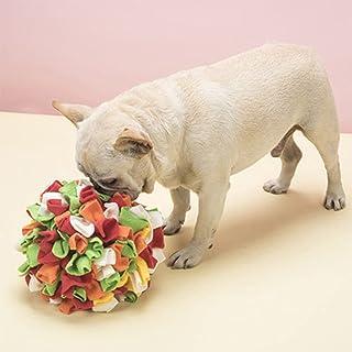 Snuffle Ball 适合小型/中/大型犬,狗狗玩球用于缓解无聊和压力,**游戏互动鼻孔玩具 - 鼓励自然觅食技能(Snuffle Ball)