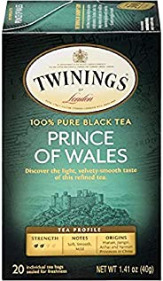伦敦双胞胎 黑色茶 20 Count (Pack of 6)