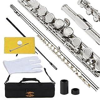 Glory 封闭孔 C 型长笛,配有套子,调节杆和衣服,关节油脂和手套MUS267097