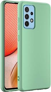 Cresee 兼容三星 Galaxy A52 5G / A52 4G 手机壳,超薄硅胶保护套,带超细纤维内饰防刮超薄贴合灵活手机壳,适用于 Galaxy A52,*