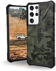 Urban Armor Gear Pathfinder 手机壳适用于三星 Galaxy S21 Ultra 5G(6.8 英寸)保护套(兼容无线充电,*标准,超薄保险杠) - 森林迷彩