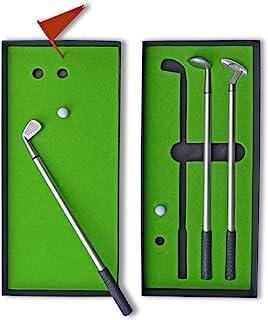 高尔夫礼品高尔夫俱乐部笔套装,男式老爸老板同事的新奇高尔夫礼品,带推杆*,酷桌面高尔夫游戏,迷你插科打诨高尔夫,办公室台玩具运动游戏,口袋游戏,白象礼物