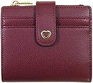 女士真皮小小巧双折拉链口袋钱包卡包钱包
