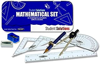 Premier 文具学生解决方案 9 件数学套装 - 蓝色
