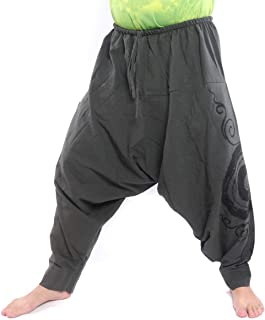 jing shop Harem Pants - 棉质漩涡印花男女皆宜