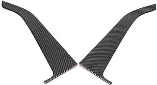 YUANJS 门面板盖,2 件汽车碳纤维内饰门面板装饰贴纸盖装饰适合野马 2015-2019(左驾驶)