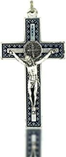 Vatican 进口 7.62cm 独特圣本修架吊坠 | 6 种颜色组合 | 天主教十字架挂饰 |