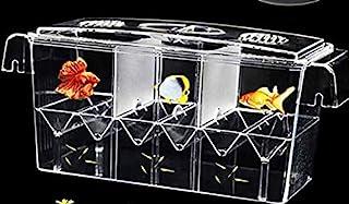 PINVNBY 鱼饲养箱 水族箱 亚克力鱼类分离器 饲养箱 爬行孵化箱 带吸盘适用于婴儿鱼 虾 小丑鱼 侵略性鱼和孔雀鱼